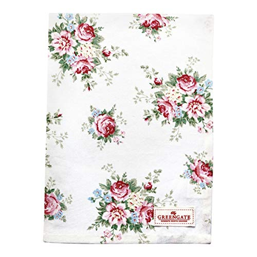 GreenGate Tea Towel Aurelia White