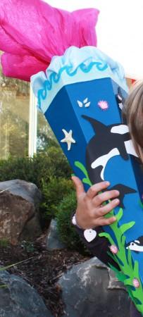 Delfin Schultüte selber basteln. Für Mädchen ein Traum