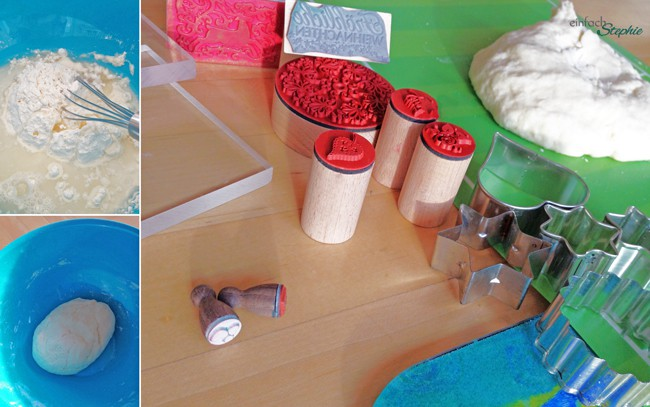 Salzteig - Weihnachtsgeschenke basteln mit Salzteig und Knete: Material
