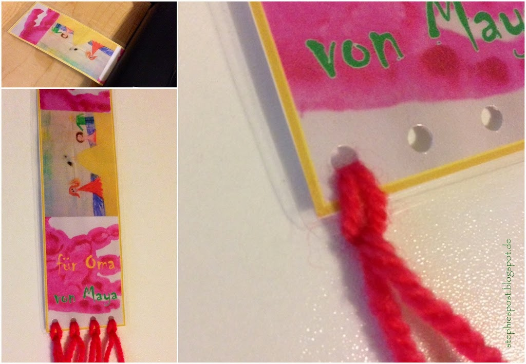 Last Minute Geschenk Von Kindern Gebastelt Lesezeichen