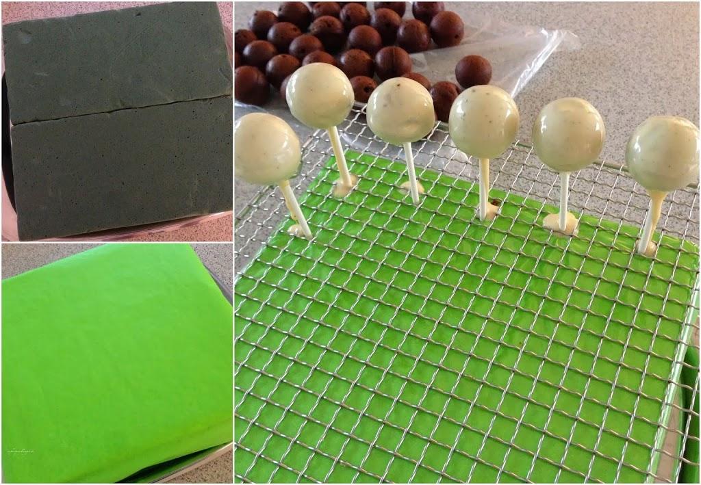 Fußball Cakepops zur WM, EM oder zum Kindergeburtstag. Vorbereitung