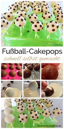 Fußball-Cakepops zur WM, EM oder Kindergeburtstag. Einfach backen mit www.einfachstephie.de