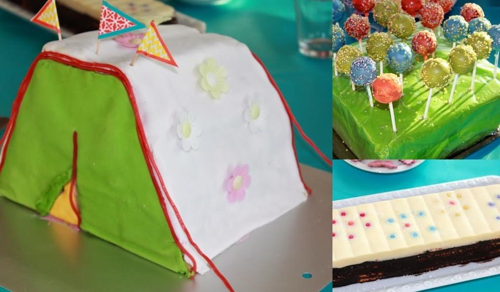 Kuchen in Zeltform