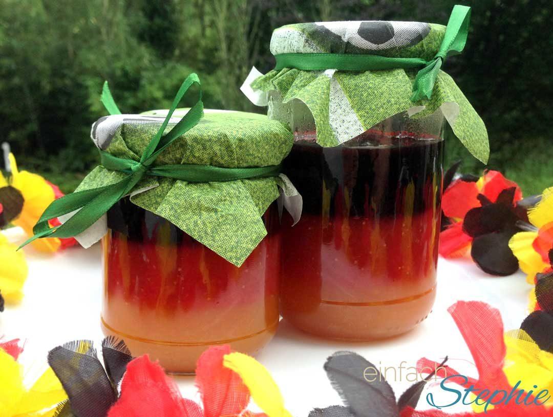 WM Marmelade selber machen. Marmelade schwarz-rot-gold