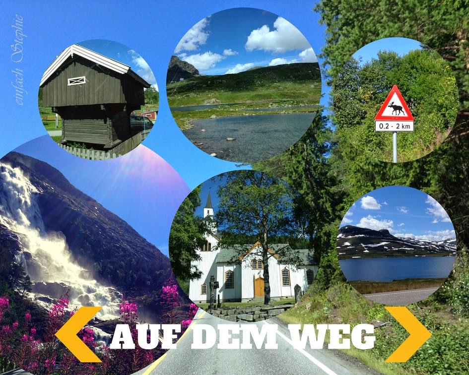 Der Weg nach Norwegen zum Fjord
