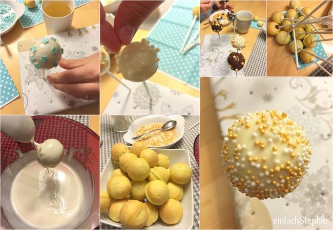 Cakepops zum Adventskaffee - Fotos zur Anleitung