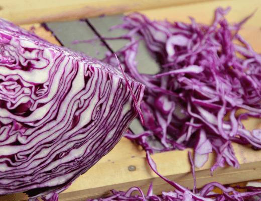 Partysalat lila mit Rotkohl - Rotkraut