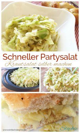 Schneller Partysalat. Krautsalat selber machen in 6 Minuten mit www.einfachstephie.de