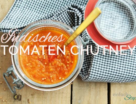 Indisches Tomaten-Chutney Dip für Fondue und Raclette. Titel