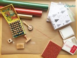 Geschenkpapier selber machen: Material