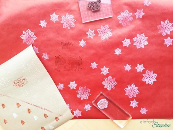 Geschenkpapier selber machen: Material Stempel