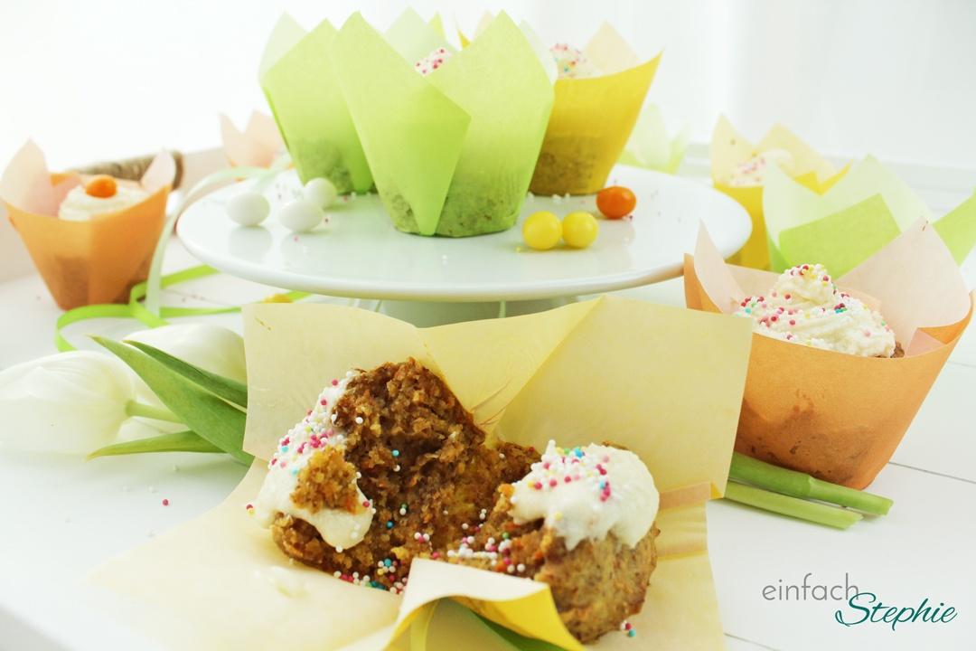 Rübli Muffins vegan mit Orangenhaube