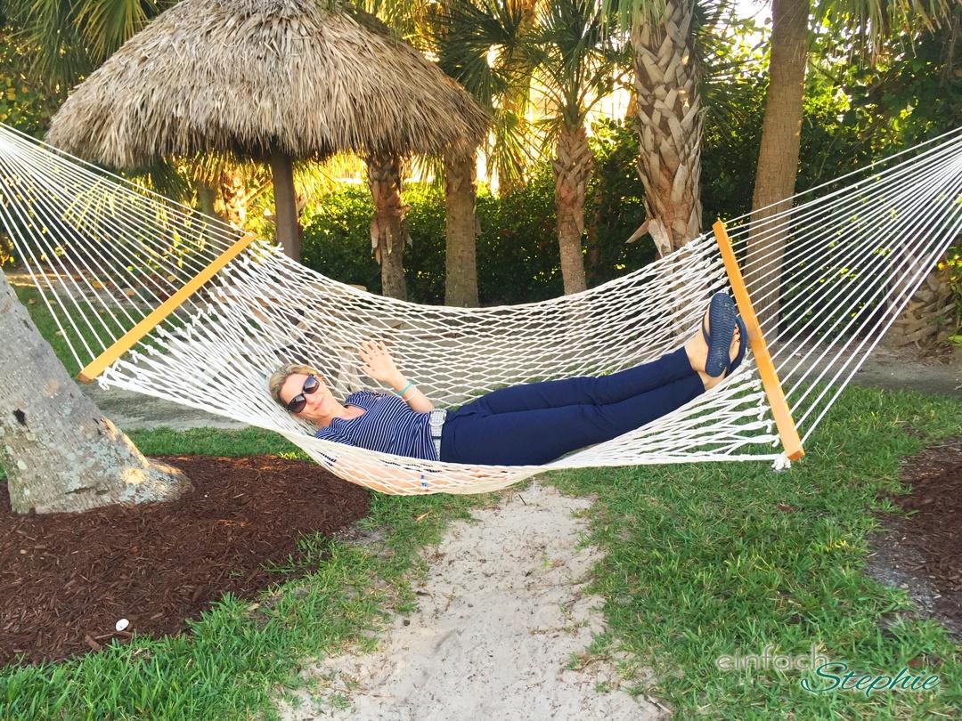 Florida mit Kindern: Sanibel Island. Stephie in der Hängematte