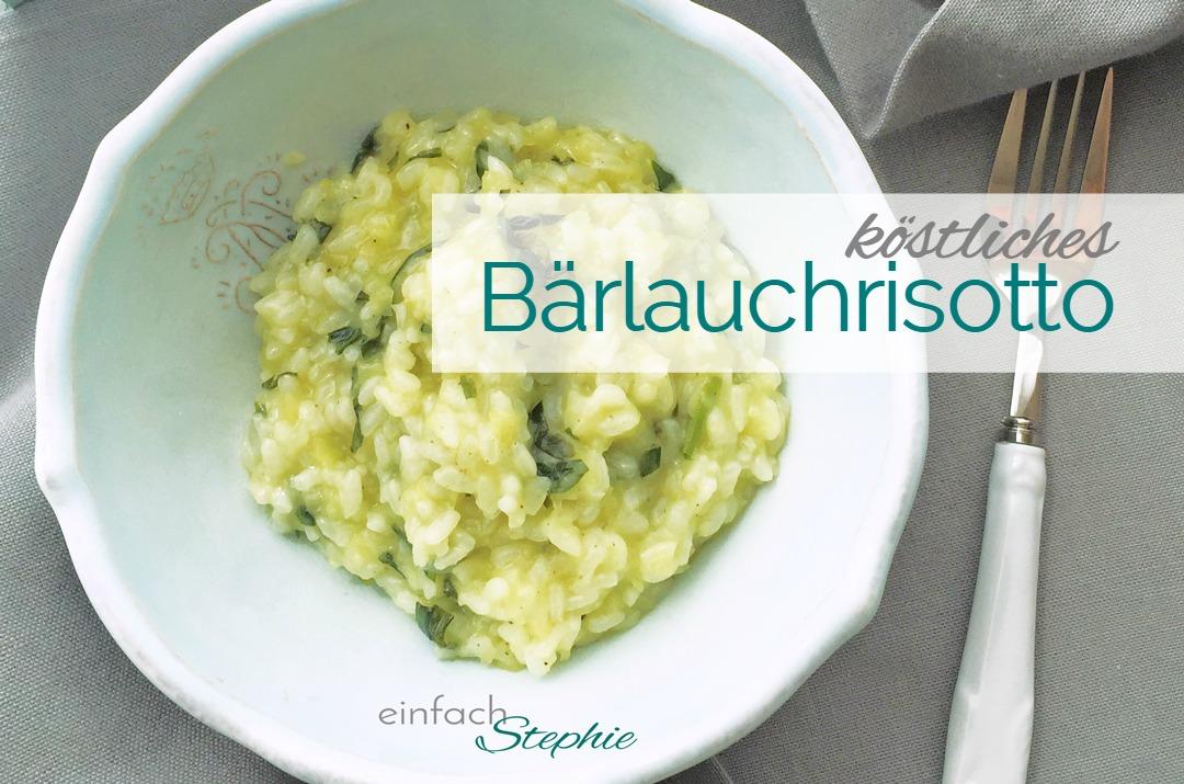 Bärlauchrisotto Rezept vegan. Titelbild