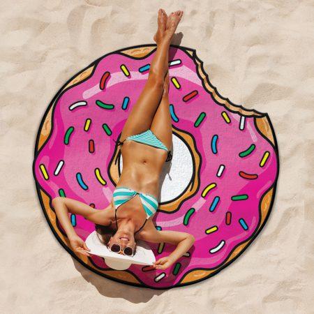 Kinder Sommerparty Geschenkidee Donut Strandtuch