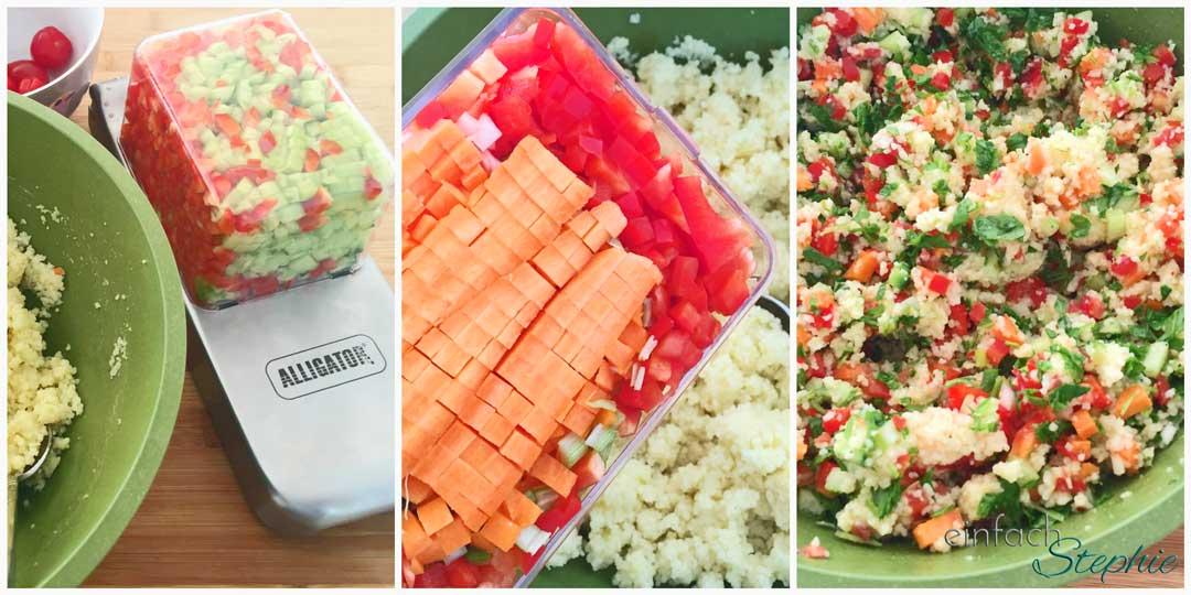 Couscous Salat Rezept Zubereitungsschritte