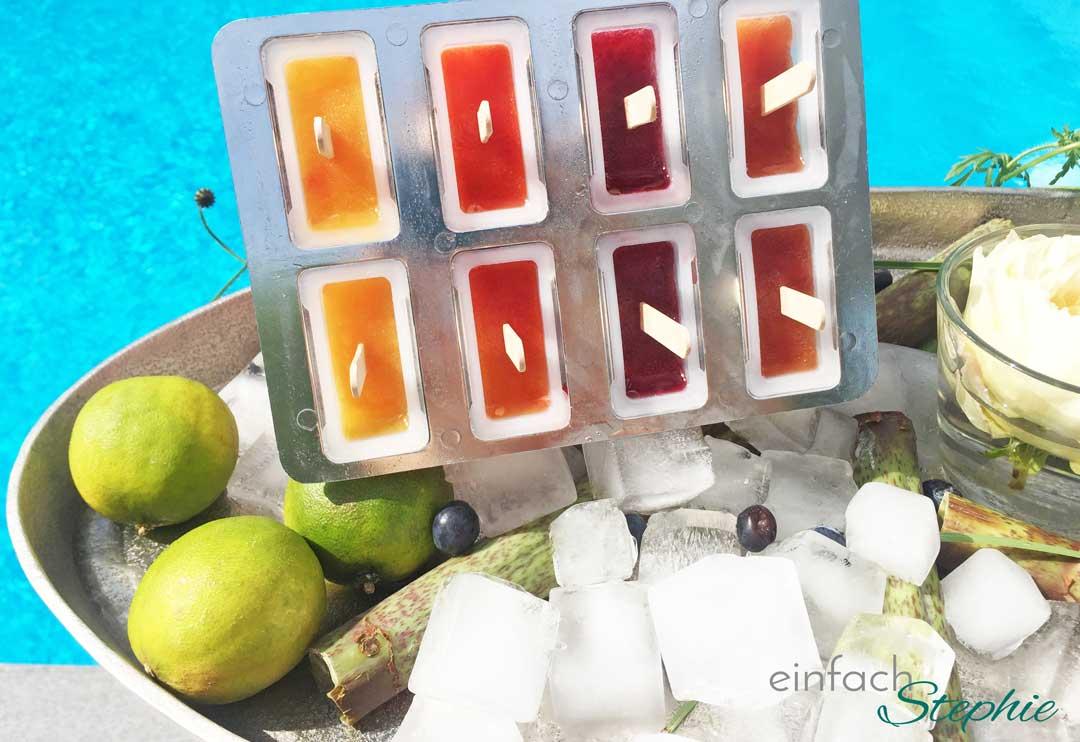 Leckeres Eis selber machen. Eisform für Eis am Stiel