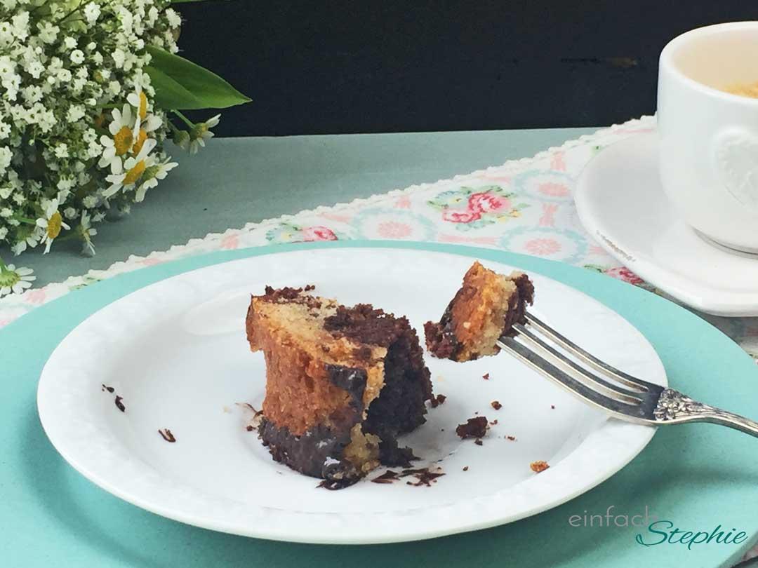 Marmorkuchen ohne Ei und Milch. Probierstück