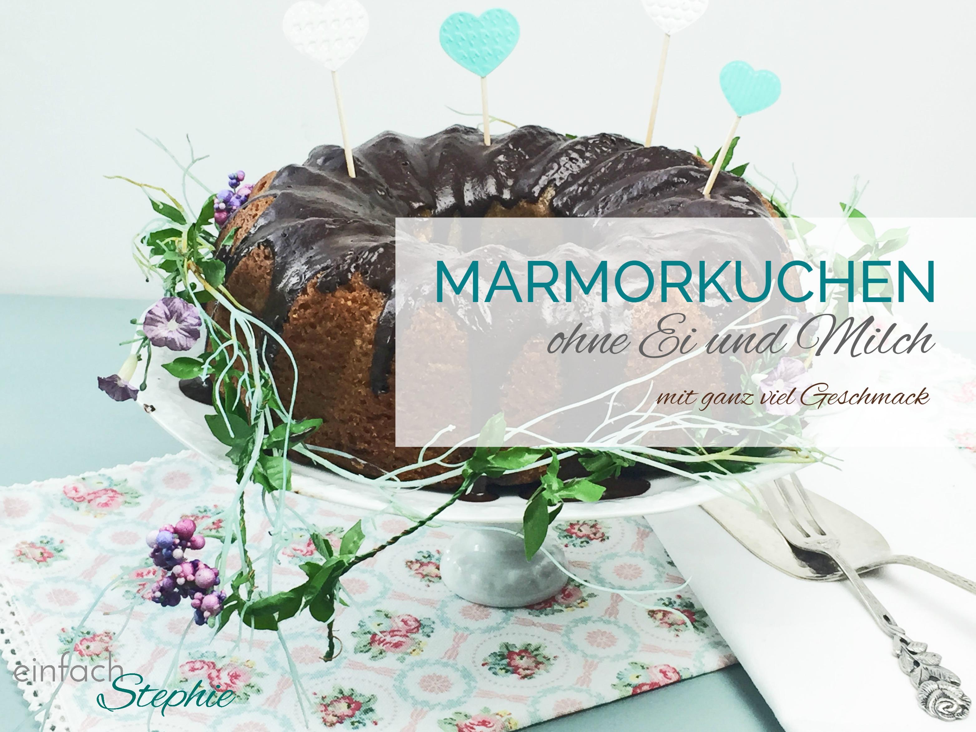 Marmorkuchen ohne Ei und Milch. Titelbild