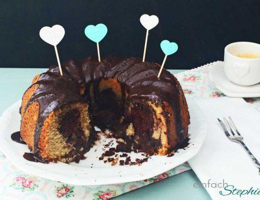 Marmorkuchen ohne Ei und Milch als Geburtstagskuchen
