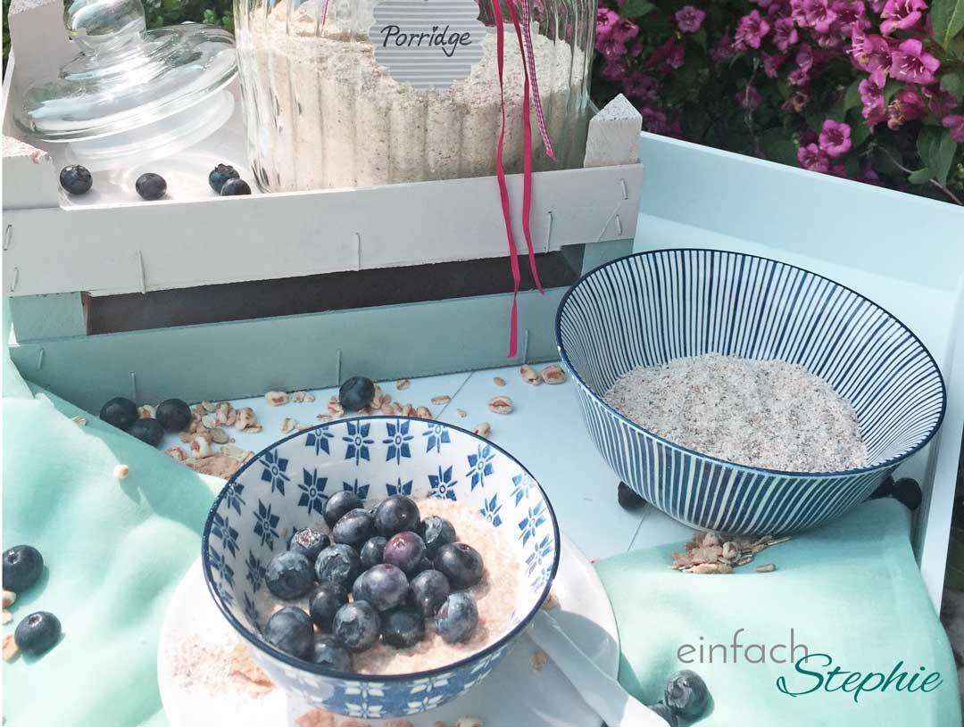 Porridge selber machen. Angerichtet und als Trockenversion