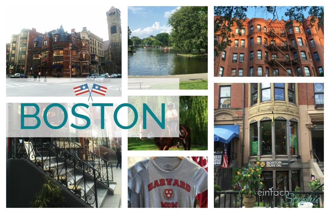 Boston, Ostküste USA. Bildcollage