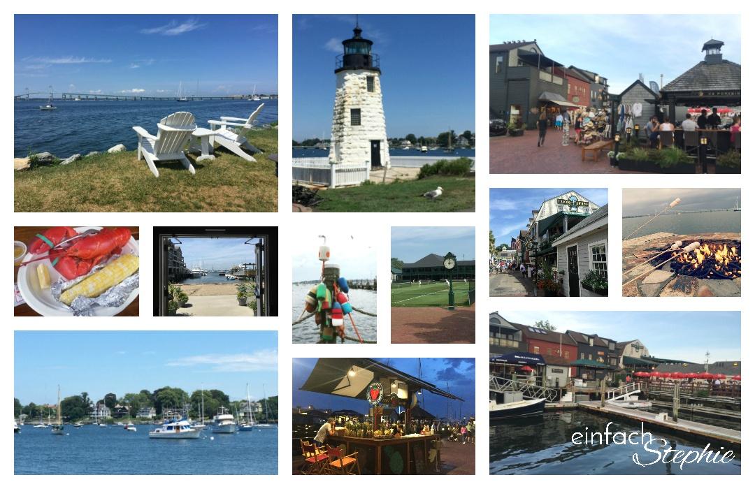 Newport, Ostküste USA. Bildcollage