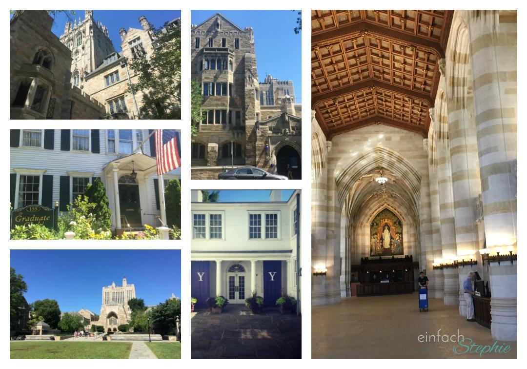 Yale University, Ostküste USA. Bildcollage