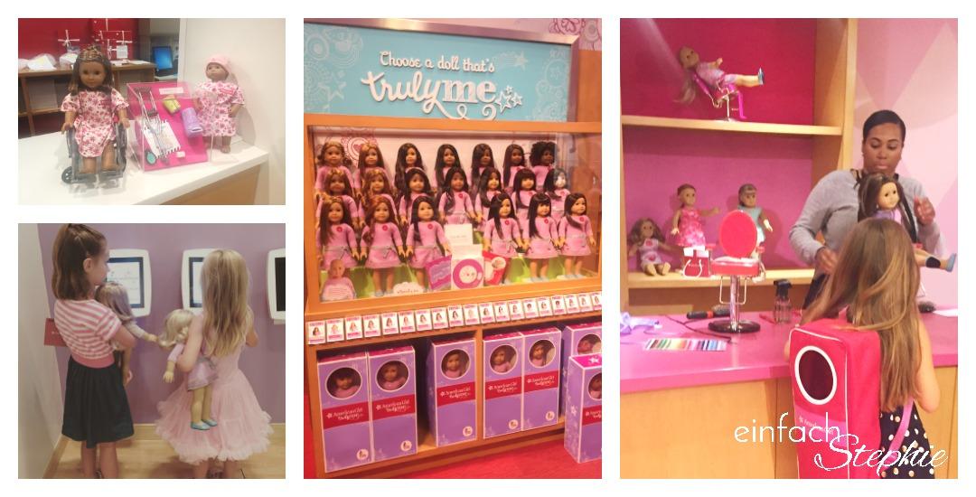 Manhattan NYC mit Kindern. American Girl Shop
