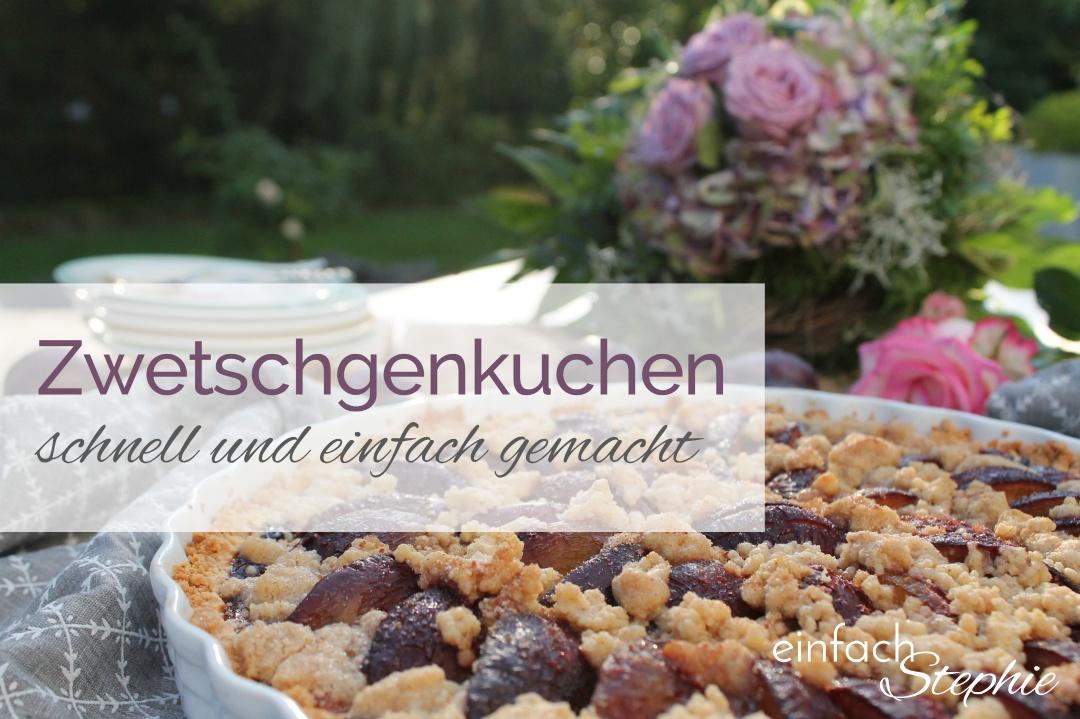 Zwetschgenkuchen mit Streuseln. Titelbild