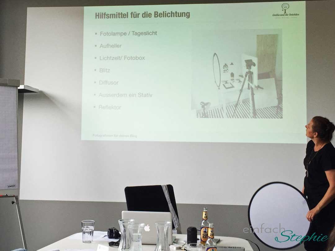 Wenn Blogger mit- und voneinander lernen. Foto Seminar in Köln
