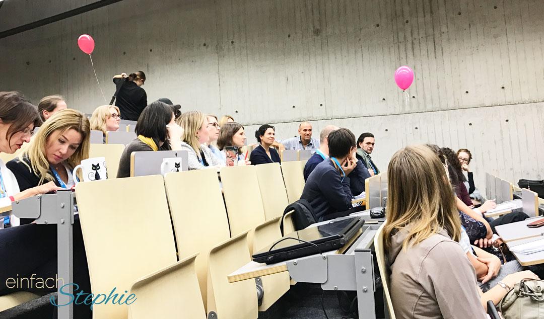 Blogger-Treffen Westfam2016. Im Hörsaal