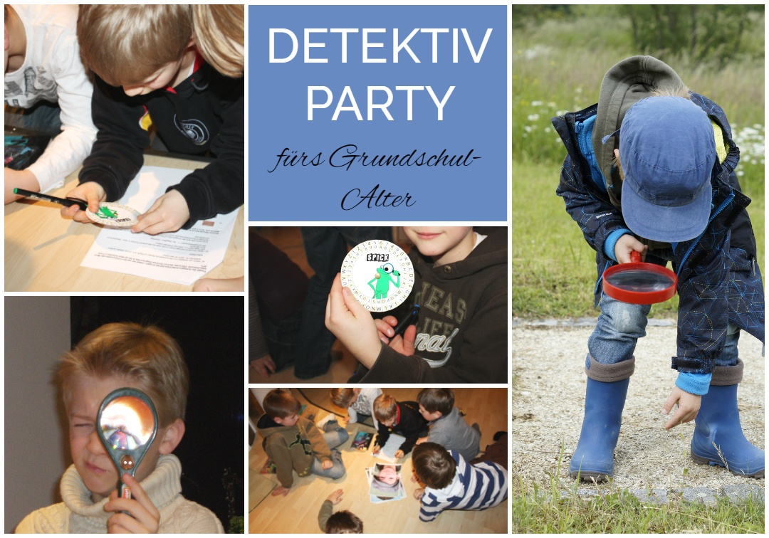 Kindergeburtstag feiern mit Jungen jeden Alters. Detektivparty