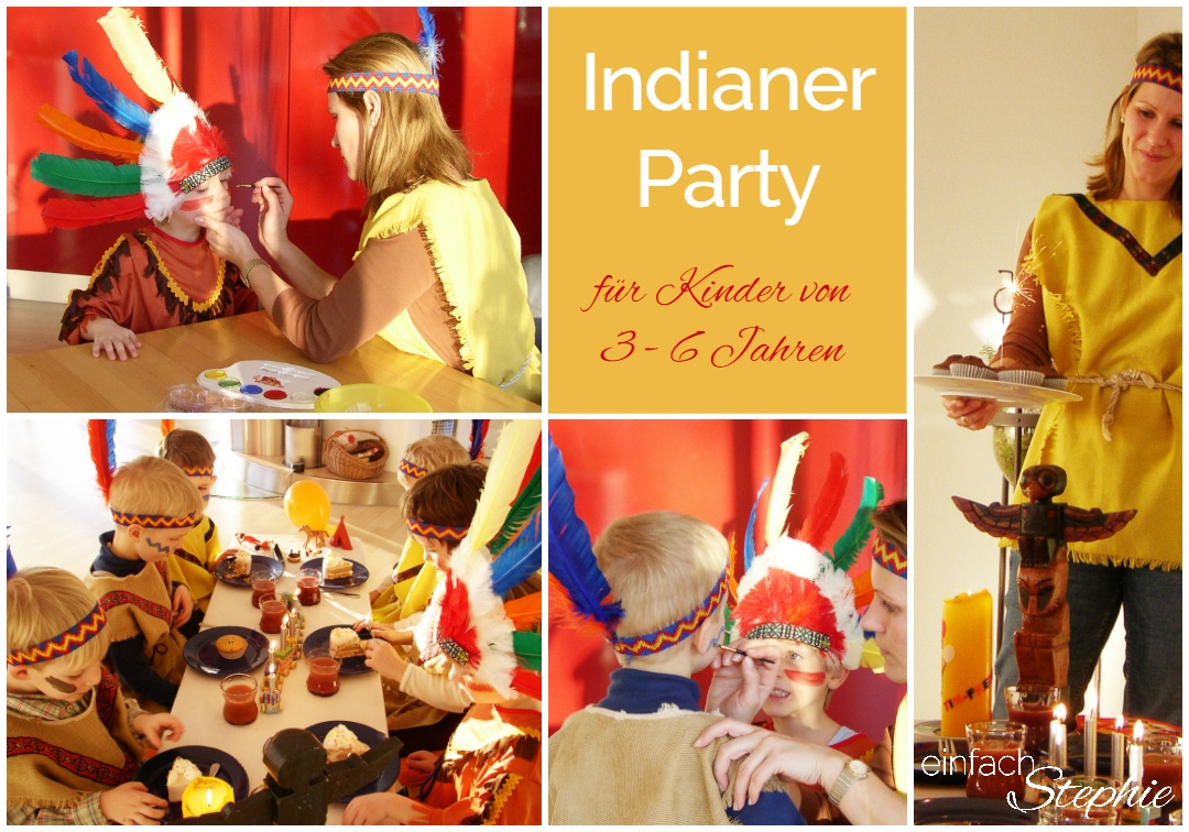 Kindergeburtstag feiern mit Jungen jeden Alters. Indianer Party