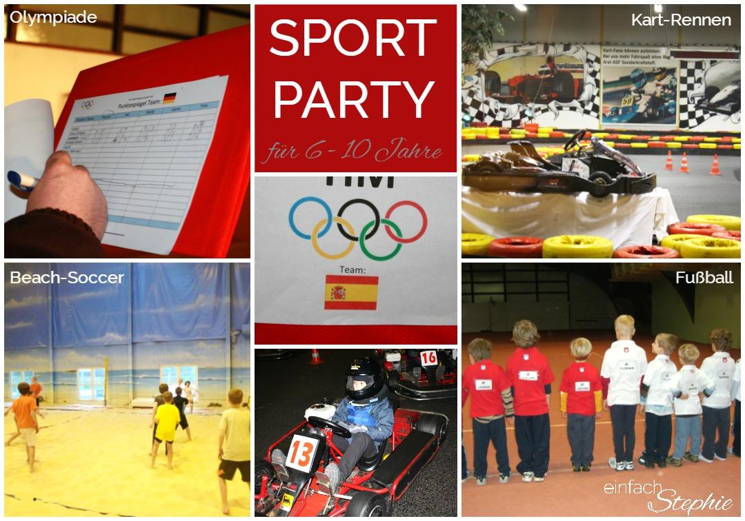 Kindergeburtstag feiern mit Jungen jeden Alters. Sport Party