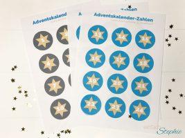 Adventskalender aus Klorollen basteln. Adventskalenderzahlen zum Ausdrucken
