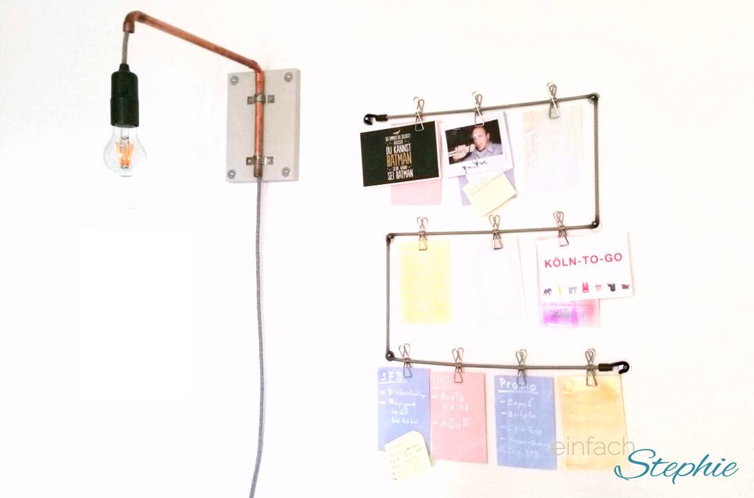 DIY Möbel: Lampe aus Kupferrohr selber machen
