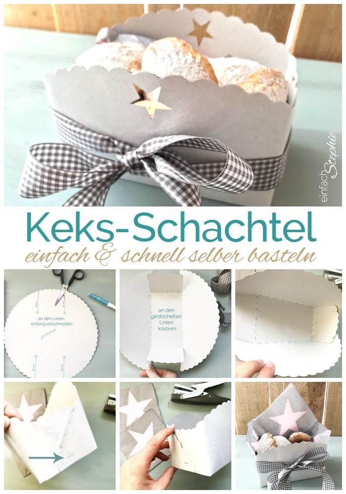 Keksbox, Keks-Schachtel selber basteln. Ganz einfache Anleitung. Ruckzuck gemacht mit einfachstephie.de