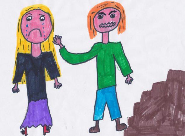 SOS-Kinderdorf e.V. | Kinderzeichnung zum Thema Gewalt