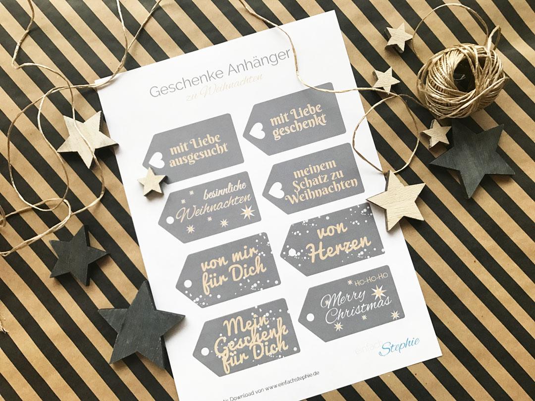 geschenkanh nger f r weihnachten kostenlos ausdrucken einfach stephie. Black Bedroom Furniture Sets. Home Design Ideas
