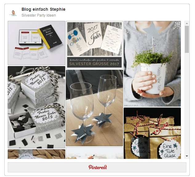 Pinterest Board Silvester Party Ideen