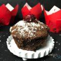 Weihnachtliche Schoko Kirsch Muffins ohne Mehl
