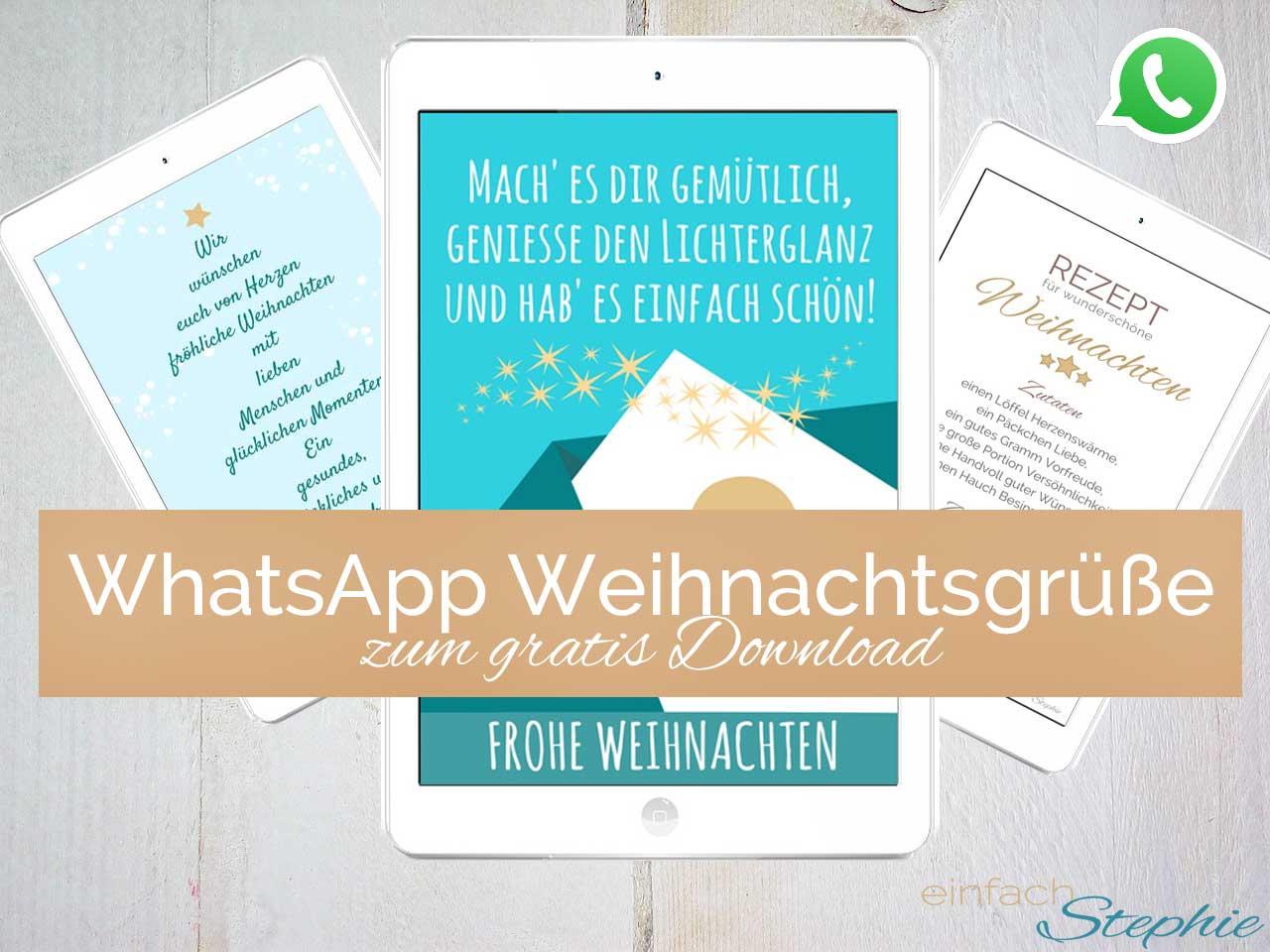 WhatsApp Weihnachstgrüße zum gratis Download bei einfachstephie.de