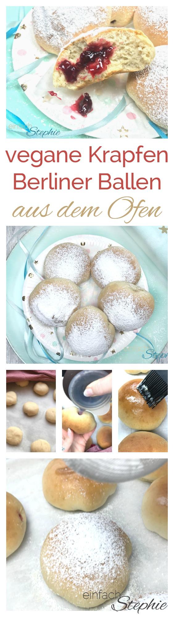 Vegane Krapfen - Berliner Ballen - Faschingskrapfen aus dem Ofen
