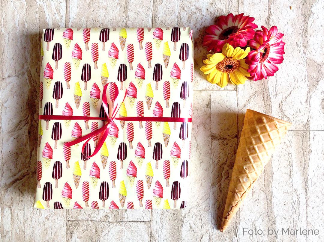 Designer Geschenkpapier Motiv Eis by-Marlene