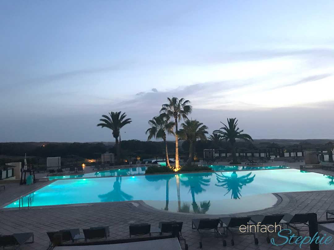 Marokko Agadir. Poolbereich Robinson Club Agadir