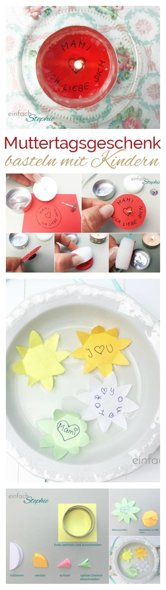Muttertagsgeschenk basteln mit Kindern. Ganz einfach mit Anleitung von einfachstephie.de