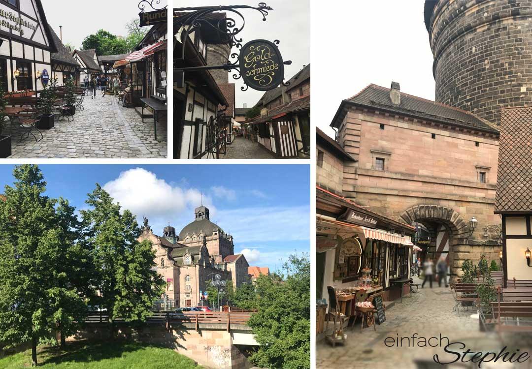 Nürnberg Altstadt. Collage zur Denkst 2107