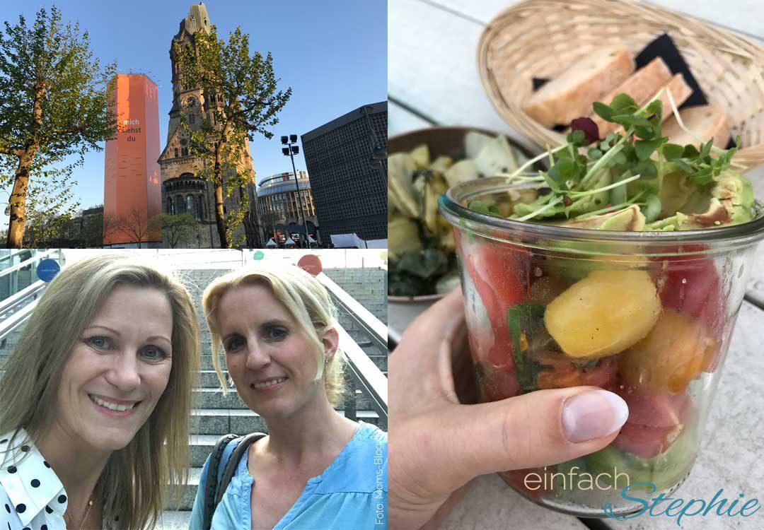 Stephie mit Patricia in Berlin zur Blogfamilia 2017