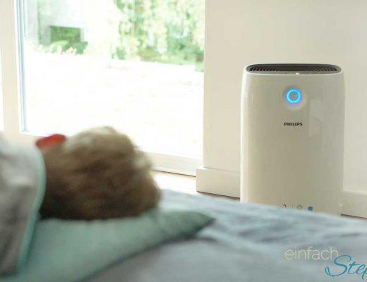 Endlich wieder schlafen trotz Pollenallergie. Gute Luft trotz Heuschnupfen dank Luftreiniger Gerät